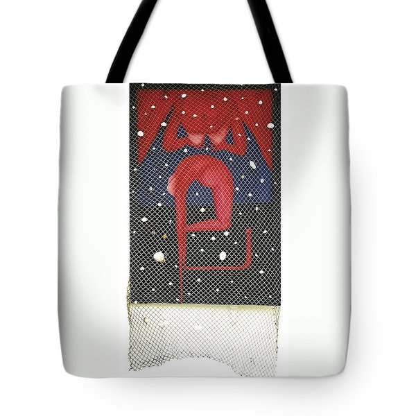 Tote Bag featuring the painting De Ja Vu_sold by Fei A