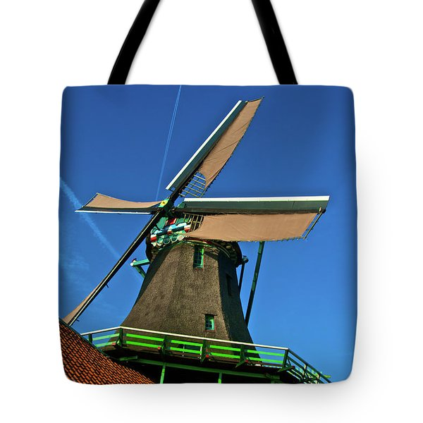 De Kat Blue Skies Tote Bag by Jonah  Anderson