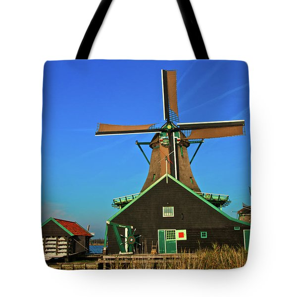 De Kat On De Zaan Tote Bag by Jonah  Anderson