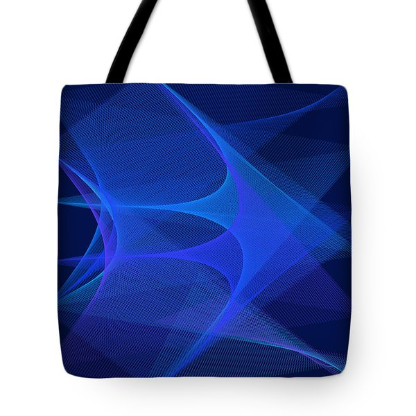 Tote Bag featuring the digital art De L'avant by Karo Evans