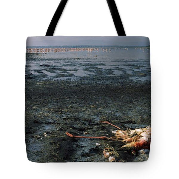 Dead Flamingo At The Lakeside, Lake Tote Bag