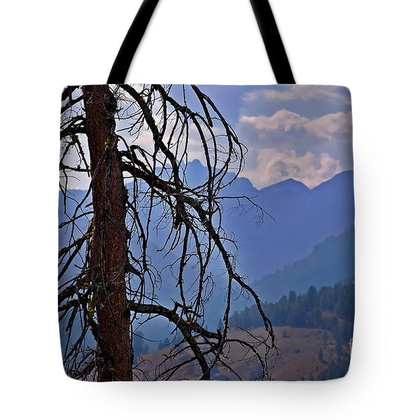 Tote Bag featuring the photograph Dead Tree Mountains Landscape by Valerie Garner