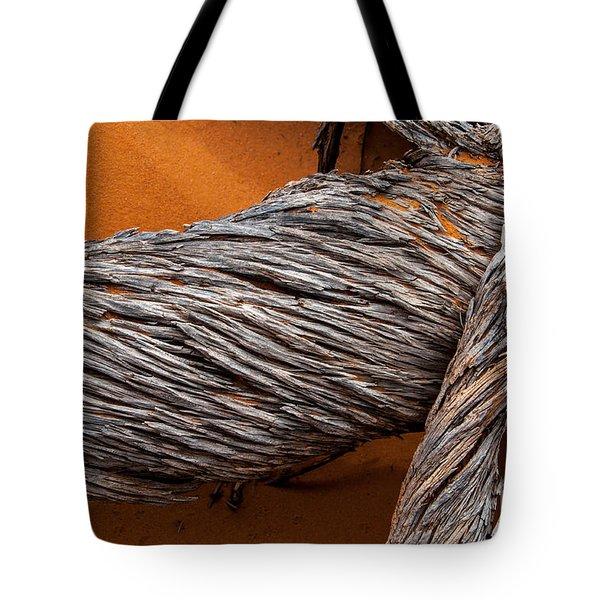 Dead Utah Juniper Orange Sand Arches National Park Tote Bag