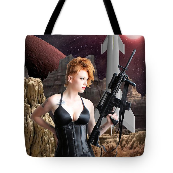 Deadly Planet Tote Bag