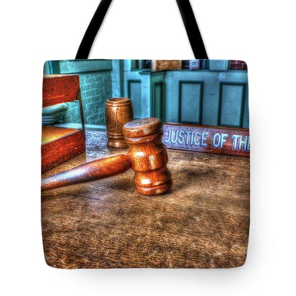 Dealing Justice Tote Bag by Dan Stone