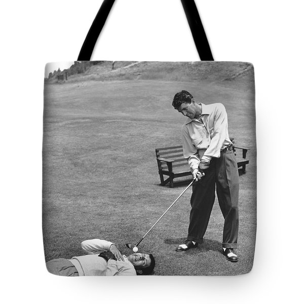 Dean Martin & Jerry Lewis Golf Tote Bag by Underwood Archives