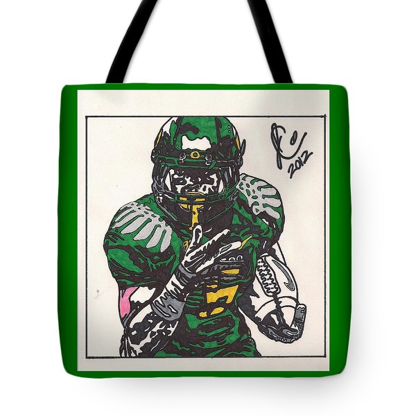 De'anthony Thomas Tote Bag by Jeremiah Colley