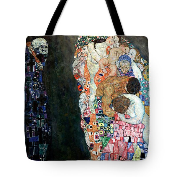 Death And Life Tote Bag by Gustive Klimt