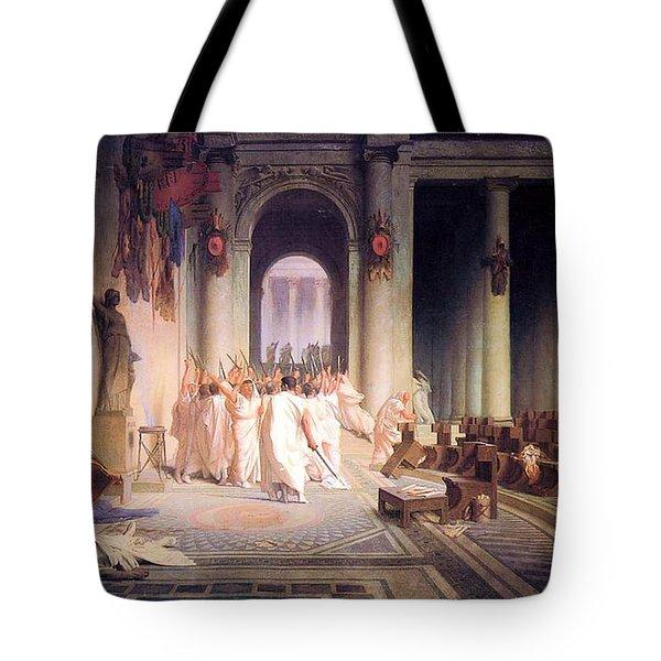 Death Of Caesar Tote Bag