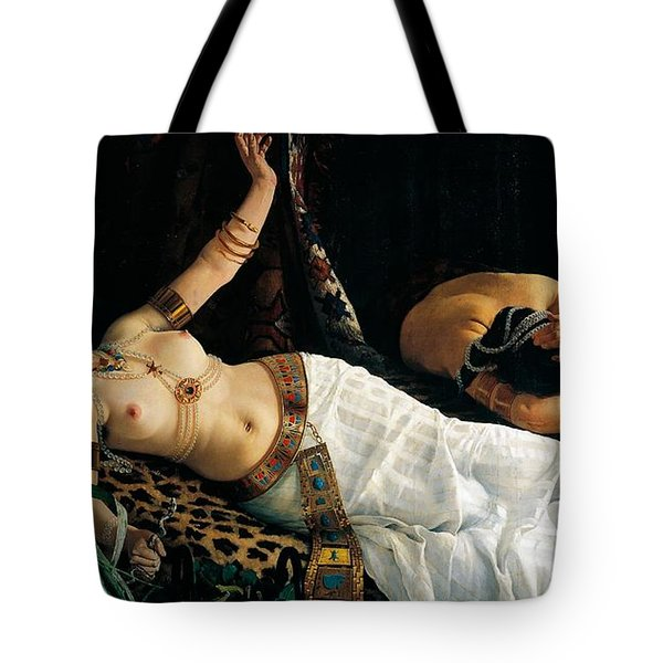 Death Of Cleopatra Tote Bag by Achilles Glisenti