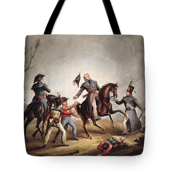 Death Of Sir John Moore January 17th Tote Bag