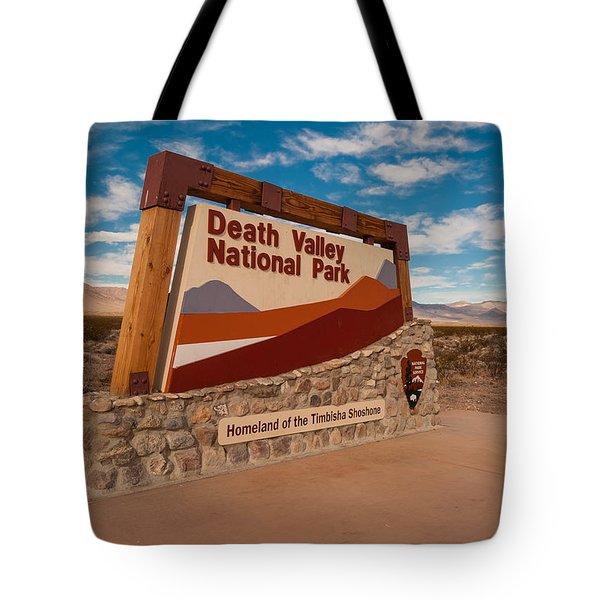 Death Valley Entry Tote Bag