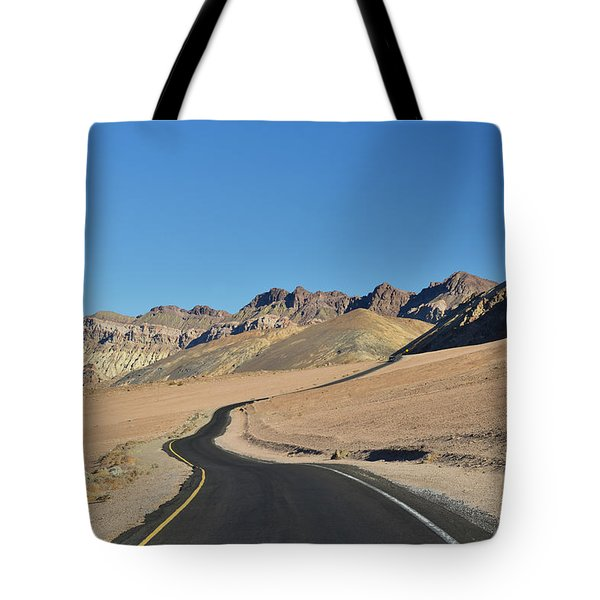 Tote Bag featuring the photograph Death Valley Meander by Dana Sohr