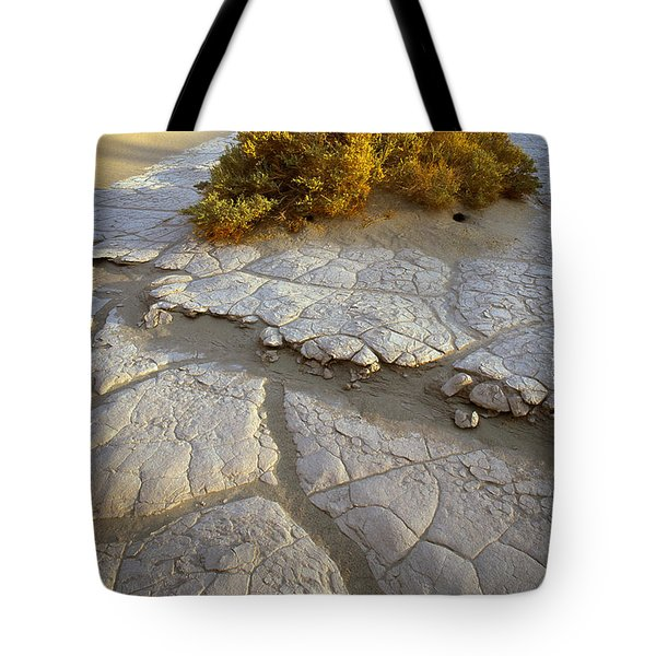 Death Valley Mudflat Tote Bag by Inge Johnsson