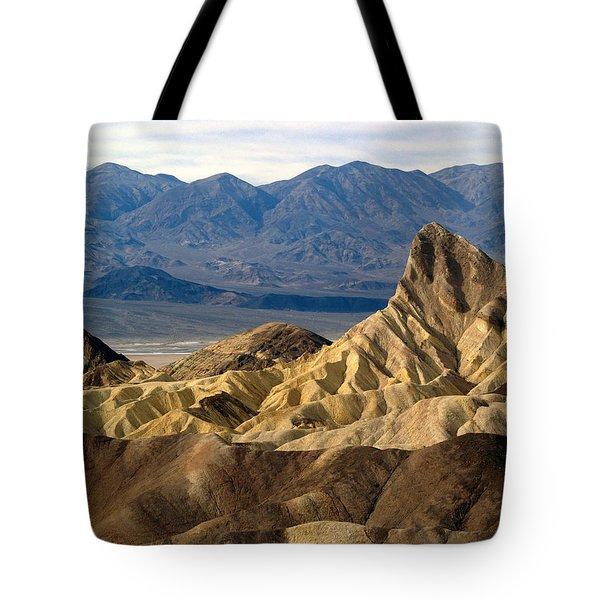 Death Valley Np Zabriskie Point 11 Tote Bag