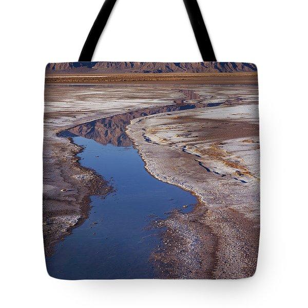 Death Valley Salt Stream 1 Tote Bag