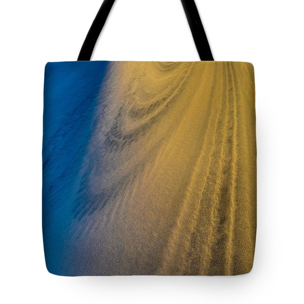 Death Valley Sunset Dune Wind Spiral Tote Bag