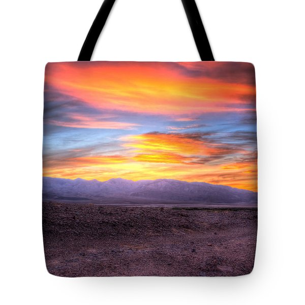 Death Valley Sunset Tote Bag by Heidi Smith