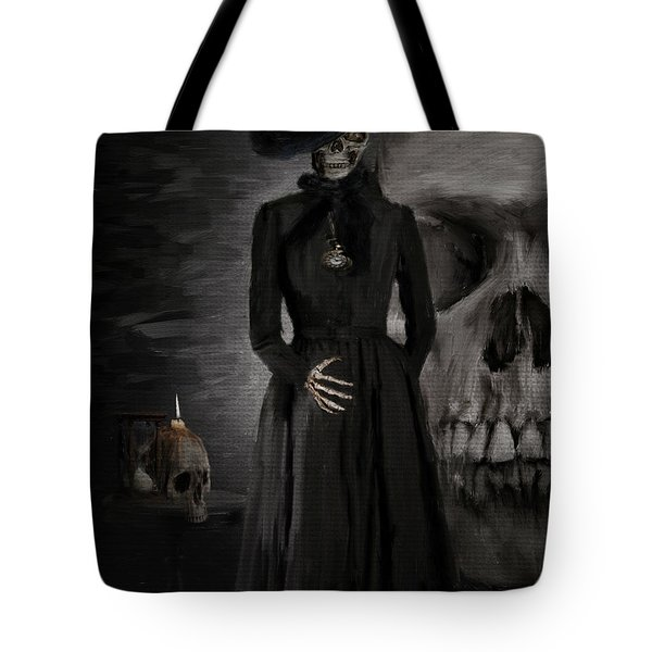 Deathly Grace Tote Bag by Lourry Legarde