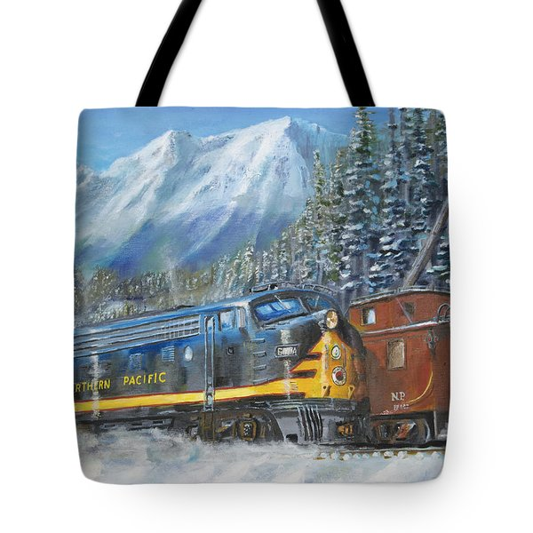 December On Stampede Pass Tote Bag by Christopher Jenkins