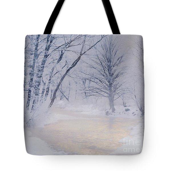 December Riverscape Tote Bag by Alan L Graham