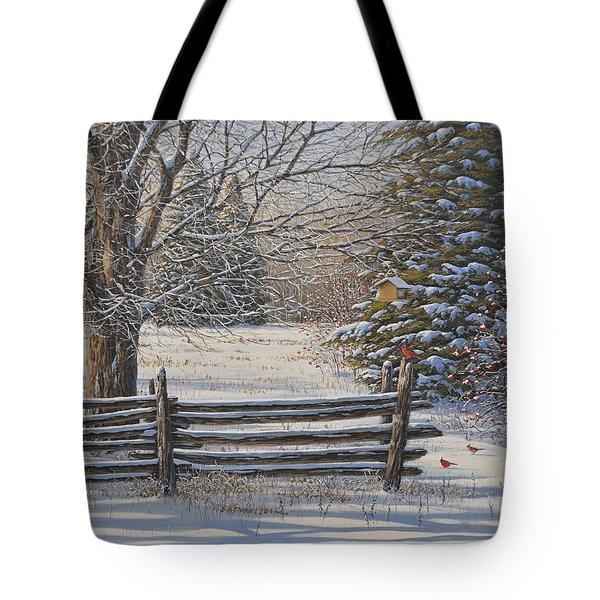 December Snow Tote Bag