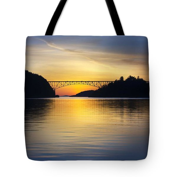 Tote Bag featuring the photograph Deception Pass Bridge by Sonya Lang