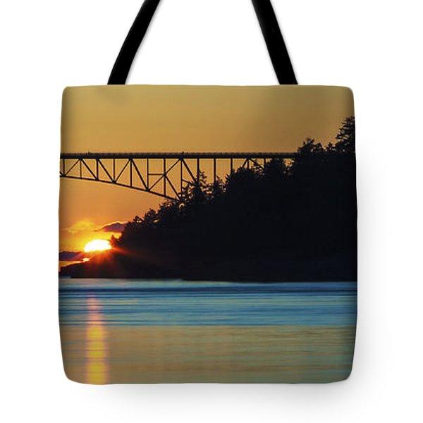 Deception Pass Bridge Sunset Tote Bag