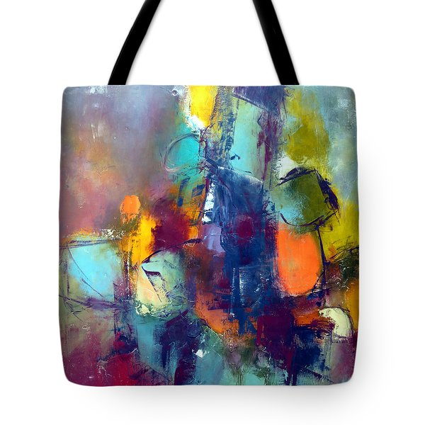 Tote Bag featuring the painting Decisions by Katie Black