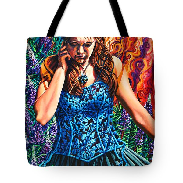 Tote Bag featuring the painting Decisions Were Made... by Greg Skrtic