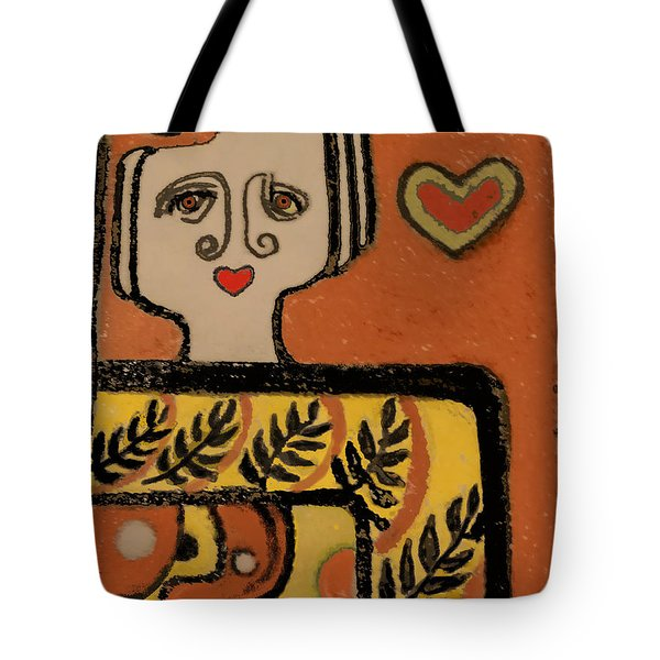 Deco Queen Of Hearts Tote Bag by Carol Jacobs