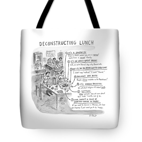 Deconstructing Lunch Tote Bag