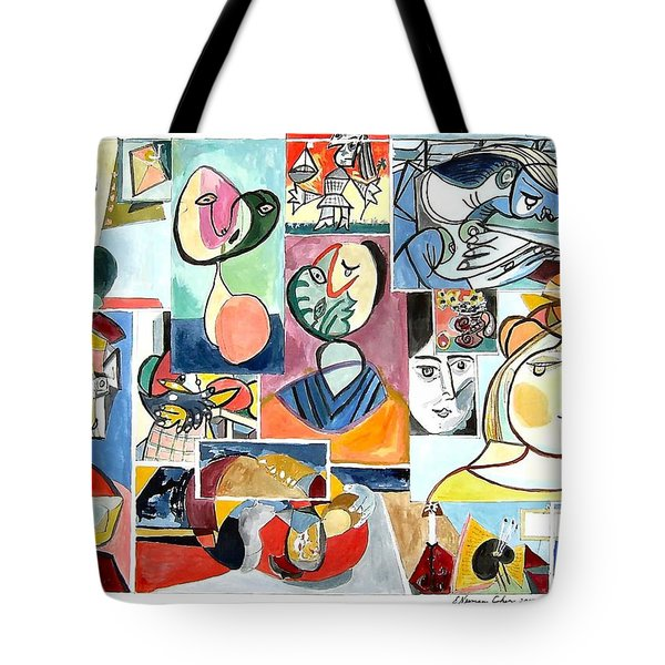 Deconstructing Picasso - Women Sad And Betrayed Tote Bag by Esther Newman-Cohen
