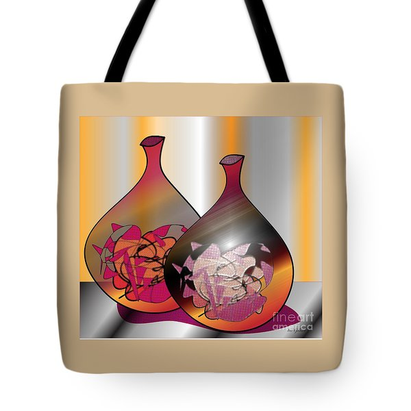 Tote Bag featuring the digital art Decor by Iris Gelbart