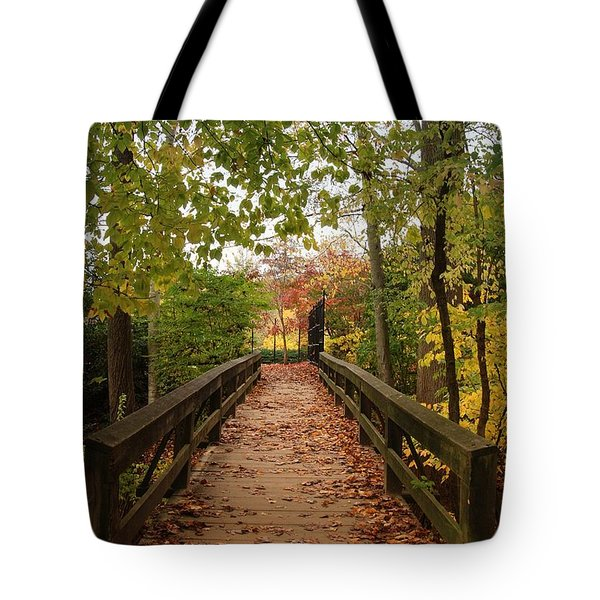 Decorate With Leaves - Holmdel Park Tote Bag by Angie Tirado