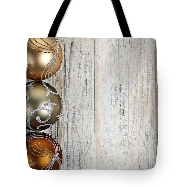 Decorated Christmas Ornaments Tote Bag by Elena Elisseeva