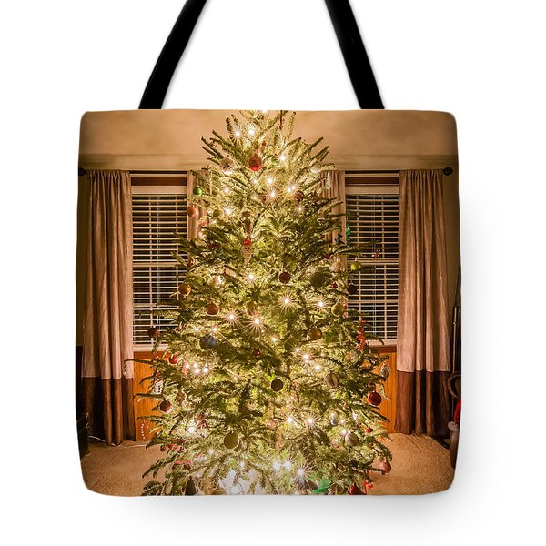 Tote Bag featuring the photograph Decorated Christmas Tree by Alex Grichenko