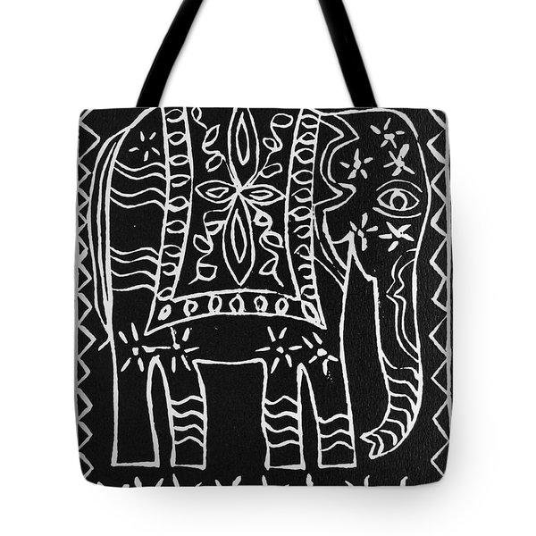 Decorated Elephant Tote Bag by Caroline Street