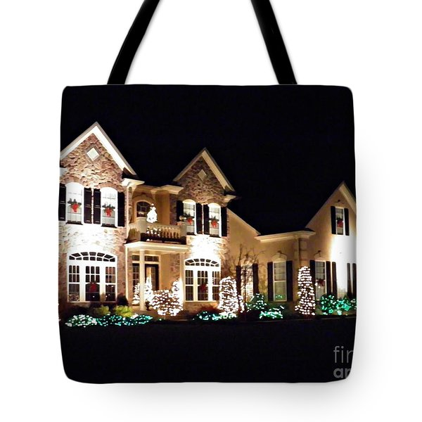 Decorated For Christmas Tote Bag by Sarah Loft