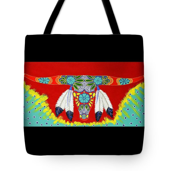 Tote Bag featuring the painting Longhorn by Debbie Chamberlin