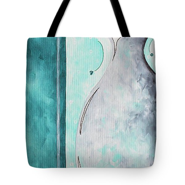 Decorative Floral Vase Painting Shabby Chic Style Relax And Unwind I By Madart Studios Tote Bag by Megan Duncanson