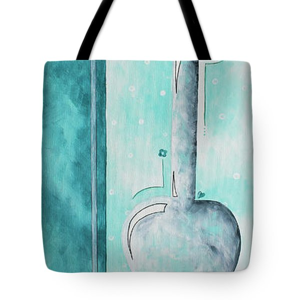 Decorative Floral Vase Painting Shabby Chic Style Relax And Unwind II By Madart Studios Tote Bag by Megan Duncanson