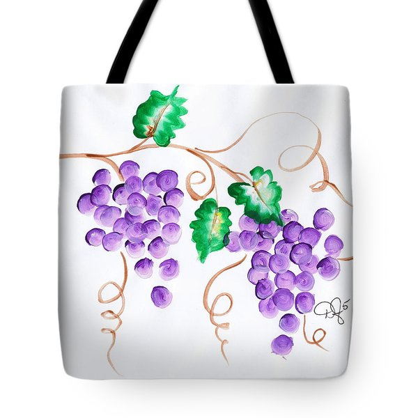 Decorative Grapes Tote Bag