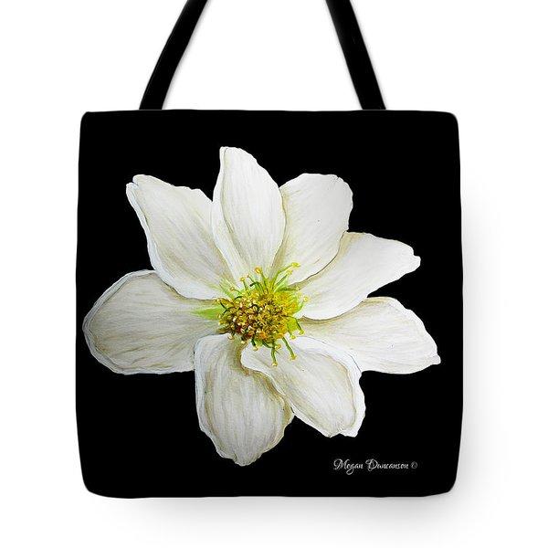 Decorative White Floral Flower Art Original Chic Painting Madart Studios Tote Bag by Megan Duncanson