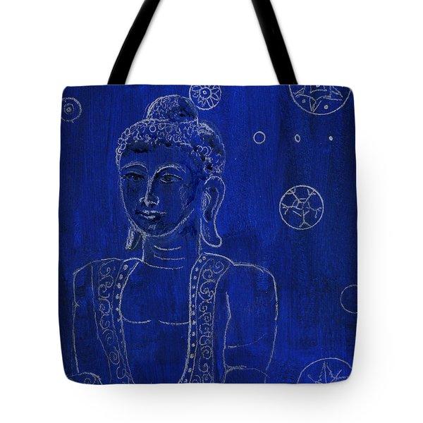 Deep Blue Buddha Tote Bag