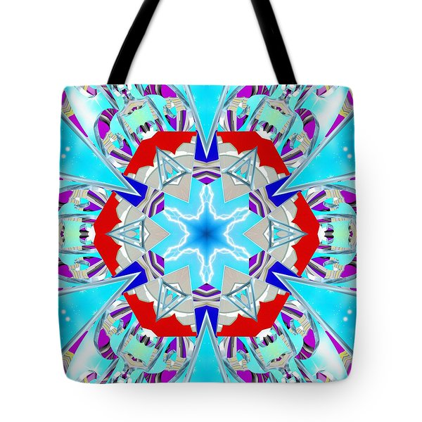 Deep Blue Geometry Tote Bag
