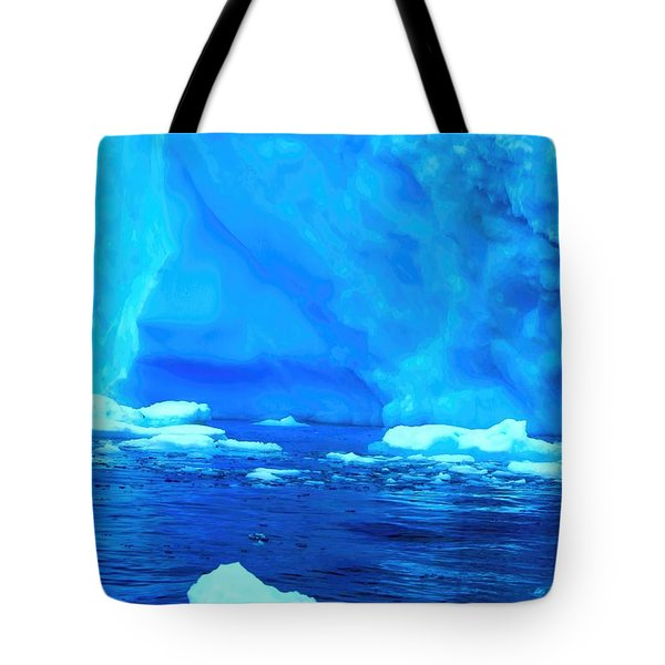 Tote Bag featuring the photograph Deep Blue Iceberg by Amanda Stadther