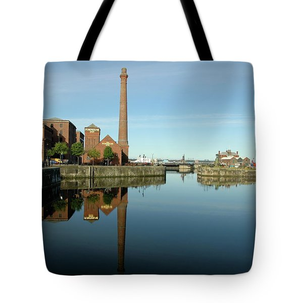 Deep Blue Reflections Tote Bag by Jonah  Anderson