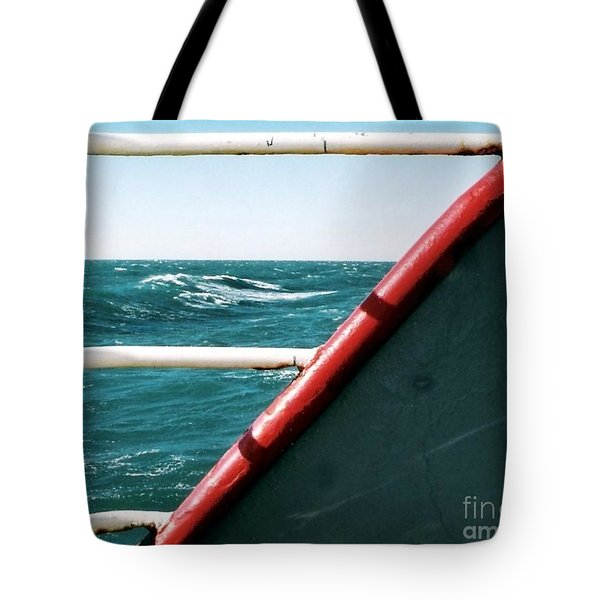 Tote Bag featuring the photograph Deep Blue Sea Of The Gulf Of Mexico Off The Coast Of Louisiana Louisiana by Michael Hoard