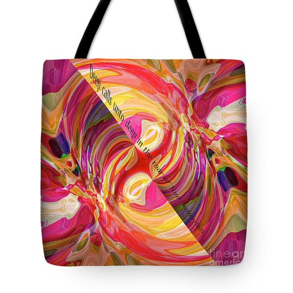 Tote Bag featuring the digital art Deep Calls Unto Deep by Margie Chapman